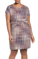 Ellen Tracy Plus Size Women's Tweed Print Sheath Dress