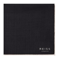 Reiss Wasp Wool Pocket Square Navy