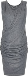 Soaked In Luxury Fitted Jersey Dress Grey