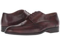 Bruno Magli Franco Cognac Calf Men's Lace Up Casual Shoes Brown