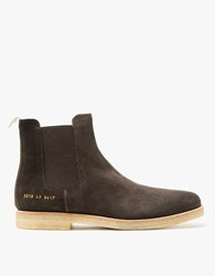 Common Projects Chelsea Boot Suede In Brown Dark Brown