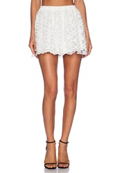 Lucca Couture High Waisted Lace Skirt White