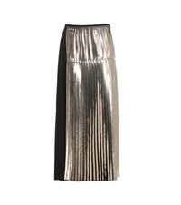 Stella Mccartney Carmen Metallic Pleated Skirt Gold