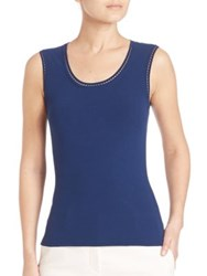 M Missoni Sleeveless Ribstitch Tank Marine