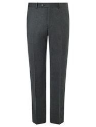 John Lewis Super 120S Wool Cashmere Flannel Tailored Suit Trousers Grey