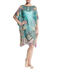Etro Metallic Paisley Print Tunic Purple