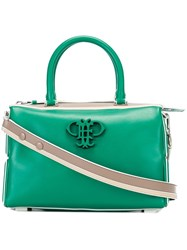 Emilio Pucci Logo Applique Crossbody Bag Green