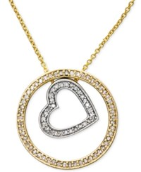 Effy Collection Duo By Effy Diamond Pendant Necklace 1 3 Ct. T.W. In 14K Gold And White Gold Two Tone