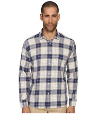 Billy Reid John T Shirt Button Up Blue Natural