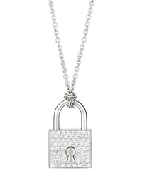 Roberto Coin 18K Gold Lock Pendant Necklace