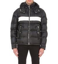 Givenchy Striped Quilted Shell Jacket Black White