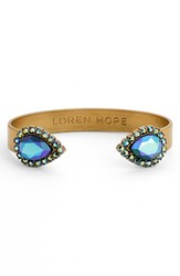 Loren Hope Women's 'Sarra' Crystal Cuff Jet Iridescent