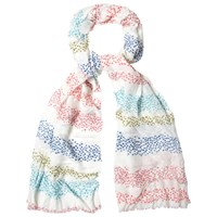 White Stuff Interest Stripe Scarf Multi