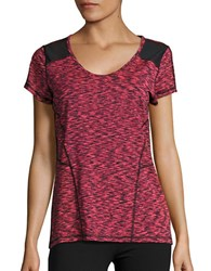 Calvin Klein Marled Performance Tee Psycho Red Combo