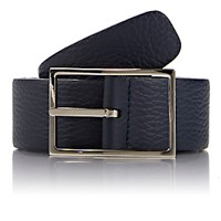 Simonnot Godard Men's Reversible Leather Belt Navy