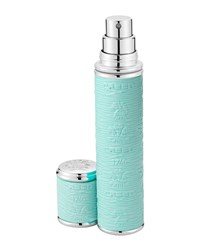 Pocket Atomizer In Turquoise Leather With Silver Trim Creed Turquoise Blue Silver
