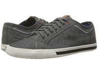 Ben Sherman Chandler Lo Coated Canvas Grey Chambray Men's Lace Up Casual Shoes Gray