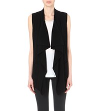 The Kooples Waterfall Wool And Cashmere Blend Cardigan Black