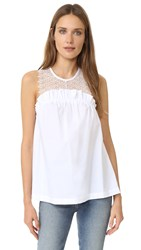 Marissa Webb Mercer Shell Top White