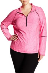 Z By Zella Fast Pace Half Zip Pullover Plus Size Pink