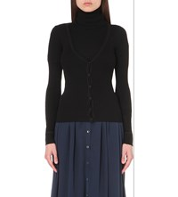 Vanessa Bruno V Neck Cotton Cardigan Noir