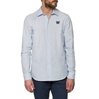 Wood Wood Blue Stripe Shirt