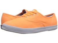Keds Champion Washed Twill Neon Orange Washed Twill Women's Lace Up Casual Shoes
