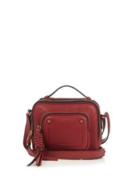 See By Chloe Patti Leather Cross Body Bag Burgundy