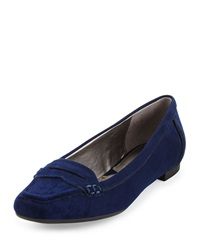 Adrienne Vittadini Blaker Suede Loafer Patriot Bl