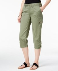 Styleandco. Style Co. Petite Embellished Capri Cargo Pants Only At Macy's Olive Spring