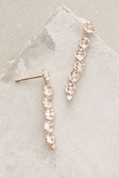Anthropologie 14K Rose Gold Starburst Earrings Copper