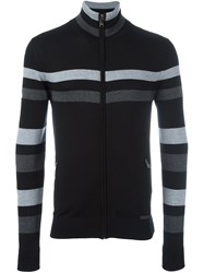Dolce And Gabbana Striped Cardigan Black