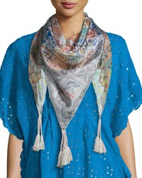 Jessner Silk Georgette Scarf Multi Johnny Was Collection