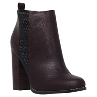 Miss Kg Scorpio Block Heeled Ankle Boots Wine