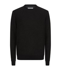 Givenchy Fishnet Mohair Sweater Male Black