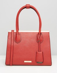 Dune Structured Tote Bag Red