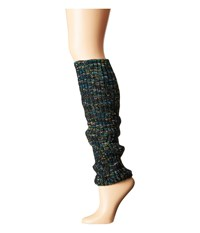 Steve Madden Marled Rib Leg Warmer Black Women's Knee High Socks Shoes
