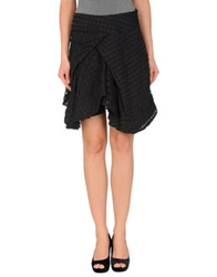 Religion Knee Length Skirts Black