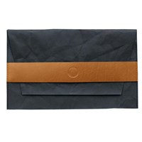 3 Wind Knots Paper Look Clutch With Leather Details Multi