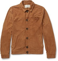 Oliver Spencer Buffalo Slim Fit Suede Jacket Brown