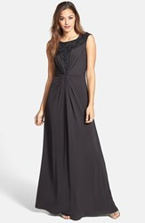 Women's Jessica Simpson Embellished Mesh Yoke Gown