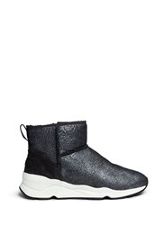 Ash 'Miko' Shearling Ankle Boots Black