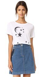 South Parade Moon And Stars Tee White