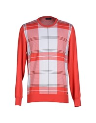 Trussardi Jeans Knitwear Jumpers Men Coral