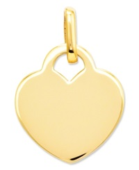 Macy's 14K Gold Charm Polished Heart Charm