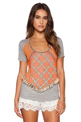 Candela Bloom Tee Gray