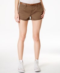 American Rag Cuffed Belted Colored Denim Shorts Only At Macy's Olive Green