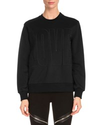 Givenchy Crewneck Love Sweatshirt Black