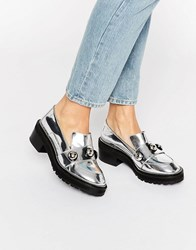 Kat Maconie Salma Silver Chunky Flat Shoes Silver