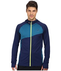 Asics Thermopolis Hoodie Indigo Blue Mosaic Blue Men's Coat